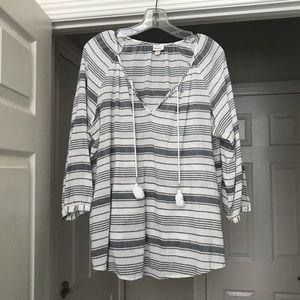 Striped Bojo Style Top